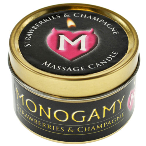 Monogamy Strawberries And Champagne Large Candle