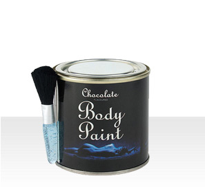 Edible chocolate body paint